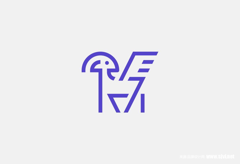 文化会议中心标志和企业形象设计 山羊飞马logo素材,企业形象设计vi手册