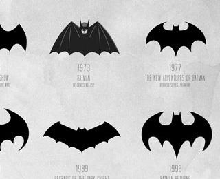 蝙蝠侠标志进化海报设计欣赏